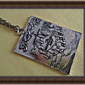 Harry Potter Marauder's Map Inspired Necklace